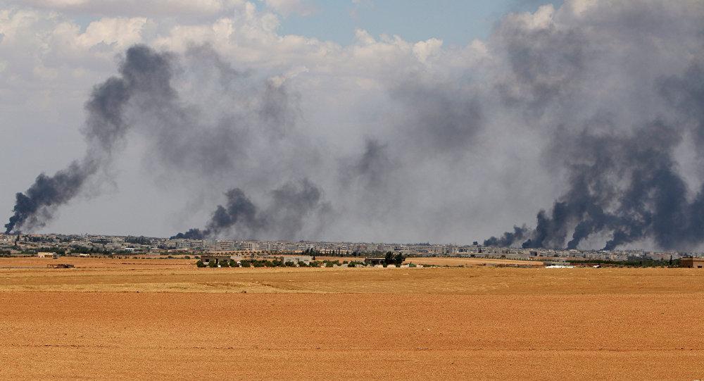 Area cerca de la ciudad de Manbij
