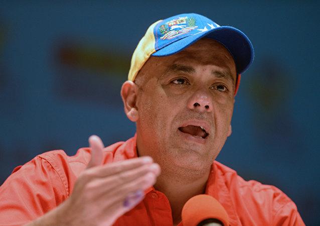 Jorge Rodríguez, ministro de Comunicación e Información de Venezuela (archivo)