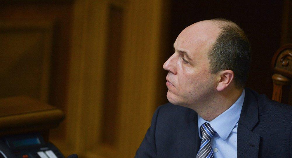 El presidente de la Rada Suprema (Parlamento ucraniano), Andréi Parubi