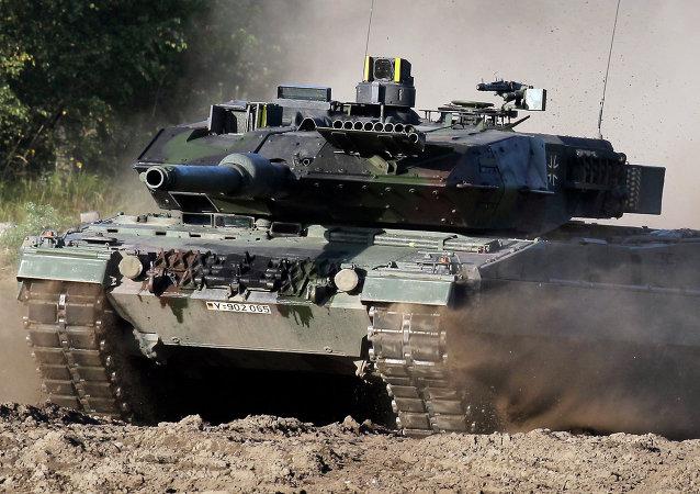 Un tanque del Ejército alemán (imagen referencial)