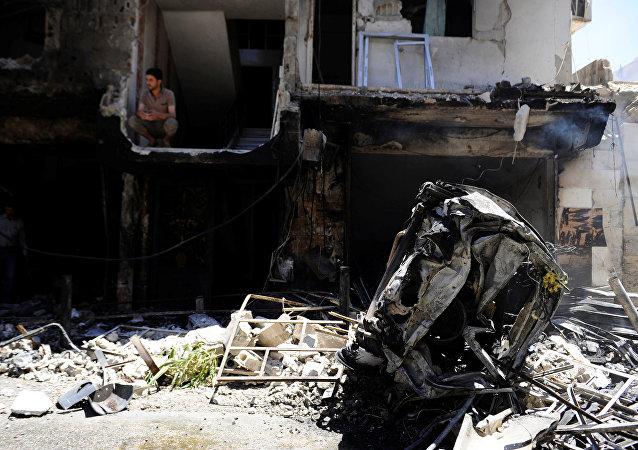 Consecuencias de un atentado en Siria (archivo)