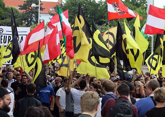 Enfrentamientos entre ultraderecha y antifascistas en Viena