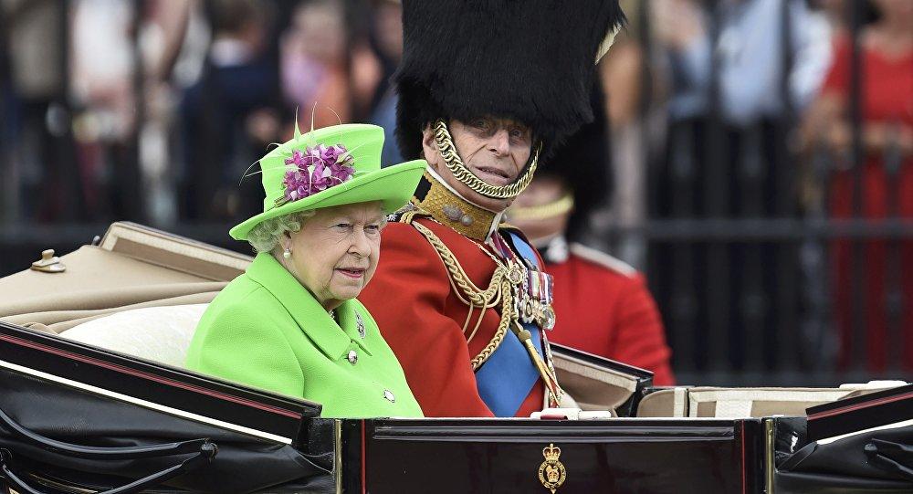 Isabel II durante la celebración de su 90 cumpleaños. 11 de junio de 2016.