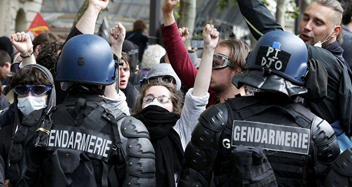 Protestas en Francia (archivo)