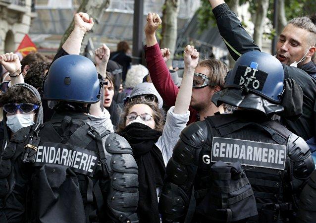 Protestas en Francia (imagen referencial)
