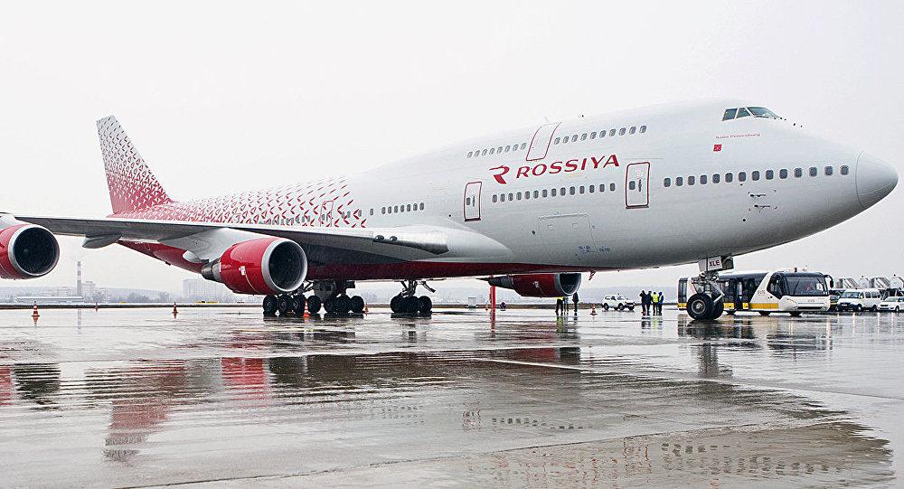 Un avión de la aerolínea Rossiya