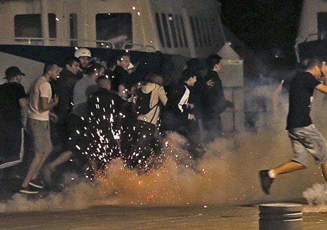 Hinchas durante la Eurocopa 2016 en Francia
