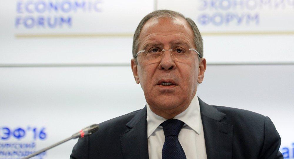 Serguéi Lavrov, ministro ruso de Asuntos Exteriores, durante el Foro Económico Internacional de San Petersburgo (SPIEF)