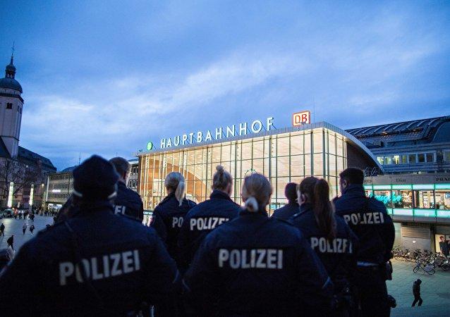 Policias en el aeropuerto de Colonia Bonn (archivo)