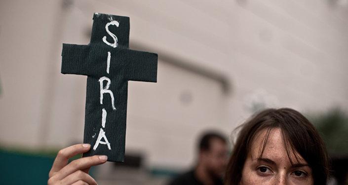 Manifestación en contra de la intervención militar de EEUU en Siria (archivo)