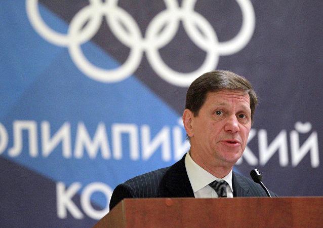 Alexandr Zhúkov, el presidente del Comité Olímpico de Rusia