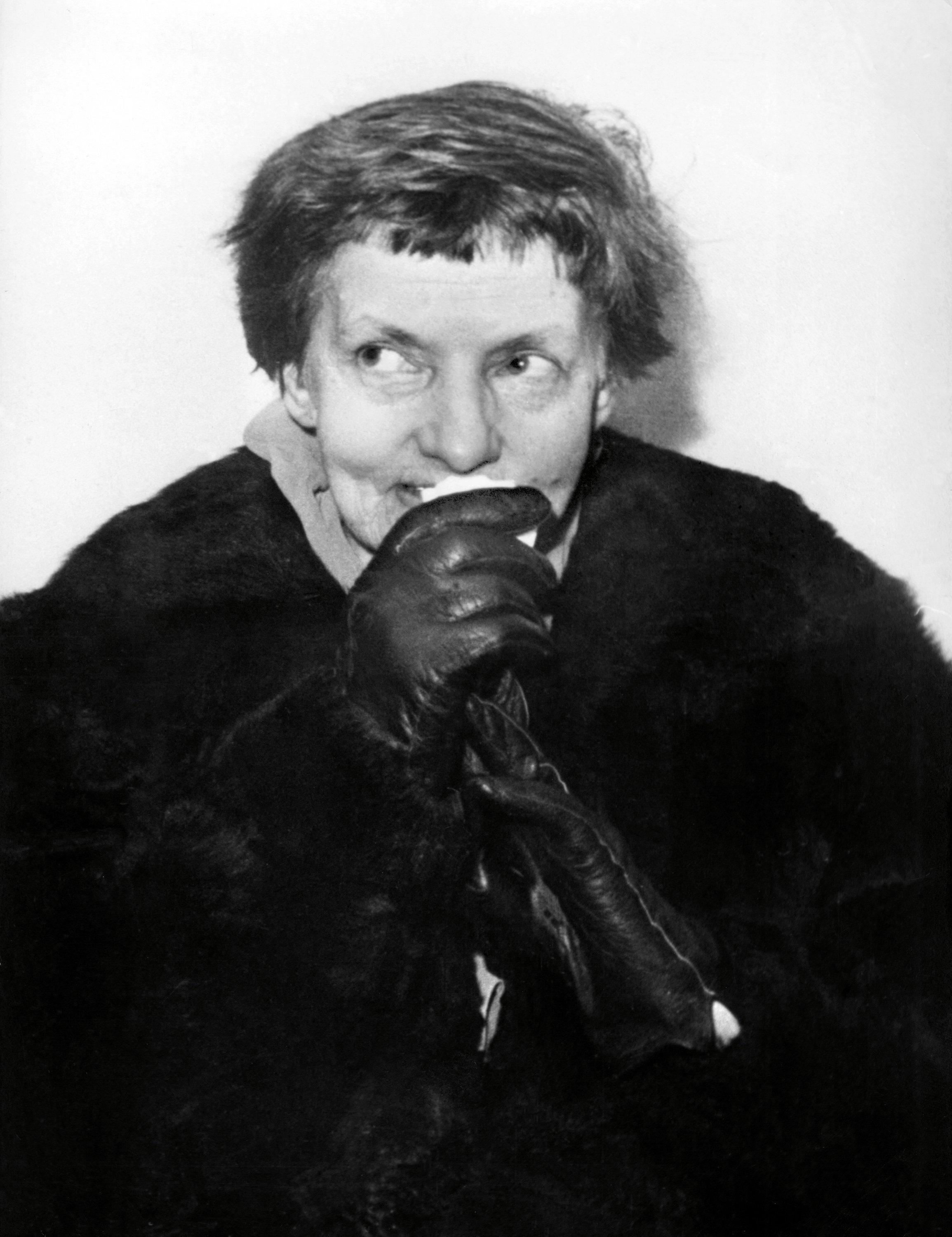 Anna Anderson, también conocida como Anastasia Manahan, en 1955