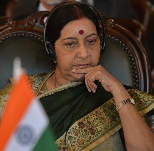 La titular de Asuntos Exteriores de la India, Sushma Swaraj