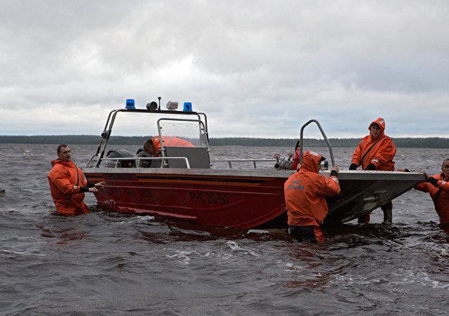 Operación de rescate en Carelia