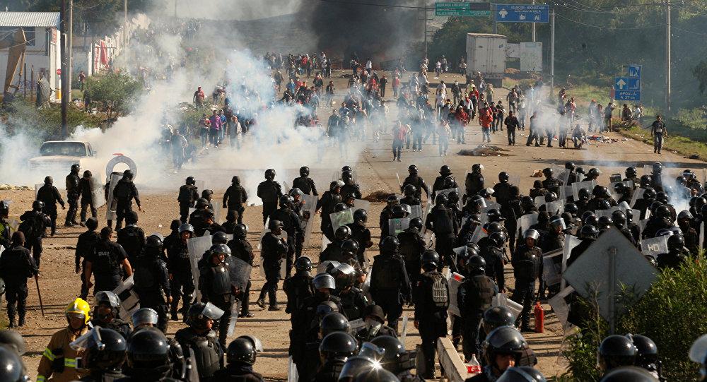 Los disturbios en Oaxaca