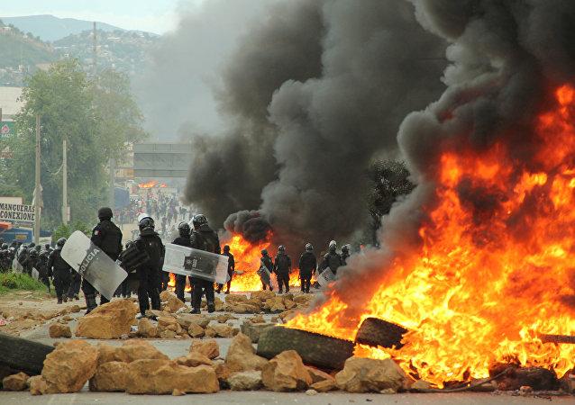 Las disturbios en Oaxaca (archivo)