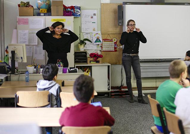 Lección en una escuela alemana