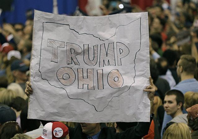 Partidarios del candidato Donald Trump en el Estado de Ohio