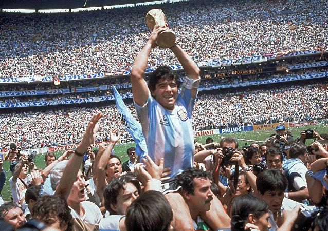 Diego Maradona, futbolista argentino (archivo)