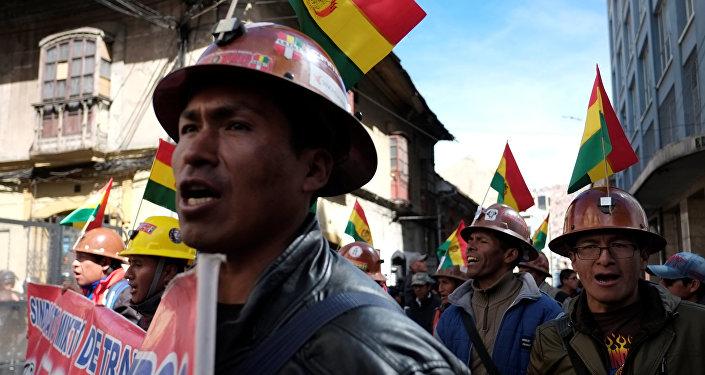 Protesta de los trabajadores en Bolivia