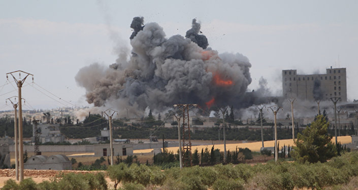 Ataque aéreo de la coalición en Siria