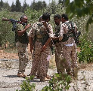 Combatientes de las Fuerzas Democráticas de Siria (FDS)