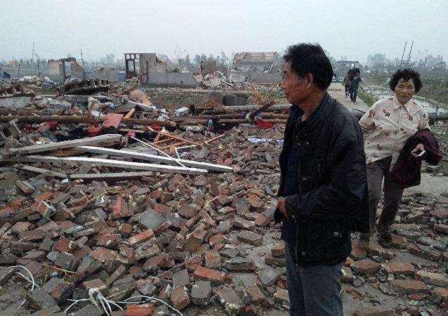 Consecuencias del tornado en China
