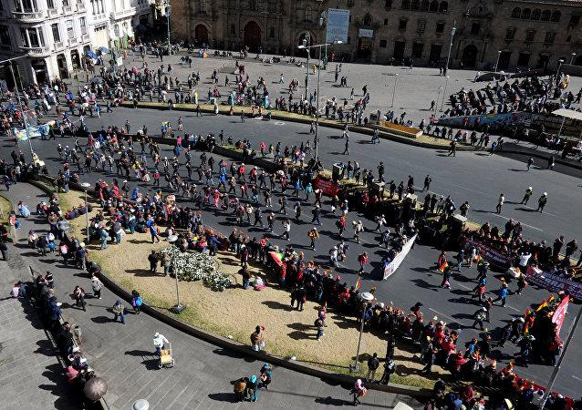 Protesta de trabajadores en Bolivia (archivo)