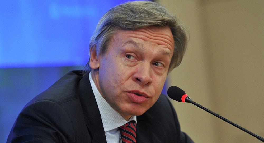 Alexéi Pushkov, jefe del comité de Asuntos Internacionales de la Duma rusa