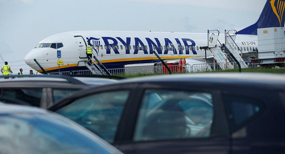 Avión de aerolínea Ryanair