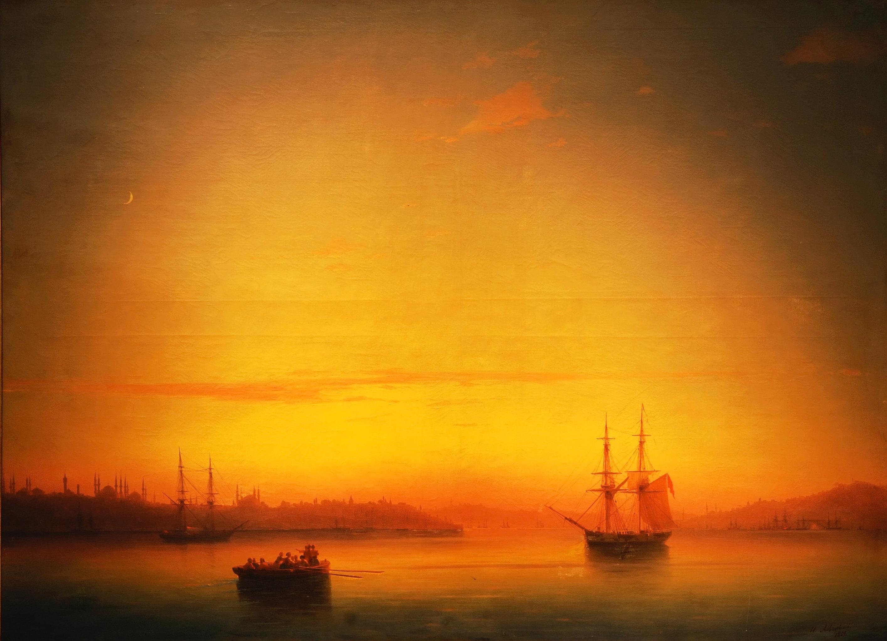 Iván Aivazovski - Constantinopla al atardecer