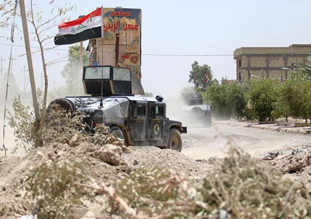Las fuerzas antiterroristas iraquíes en Faluya