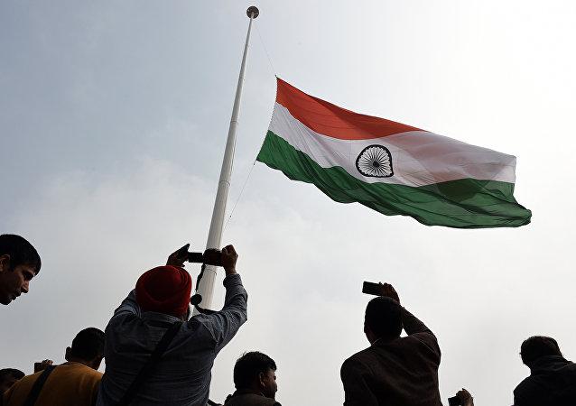 La bandera de la India