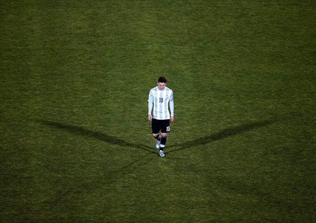 Lionel Messi después de la final de la Copa América