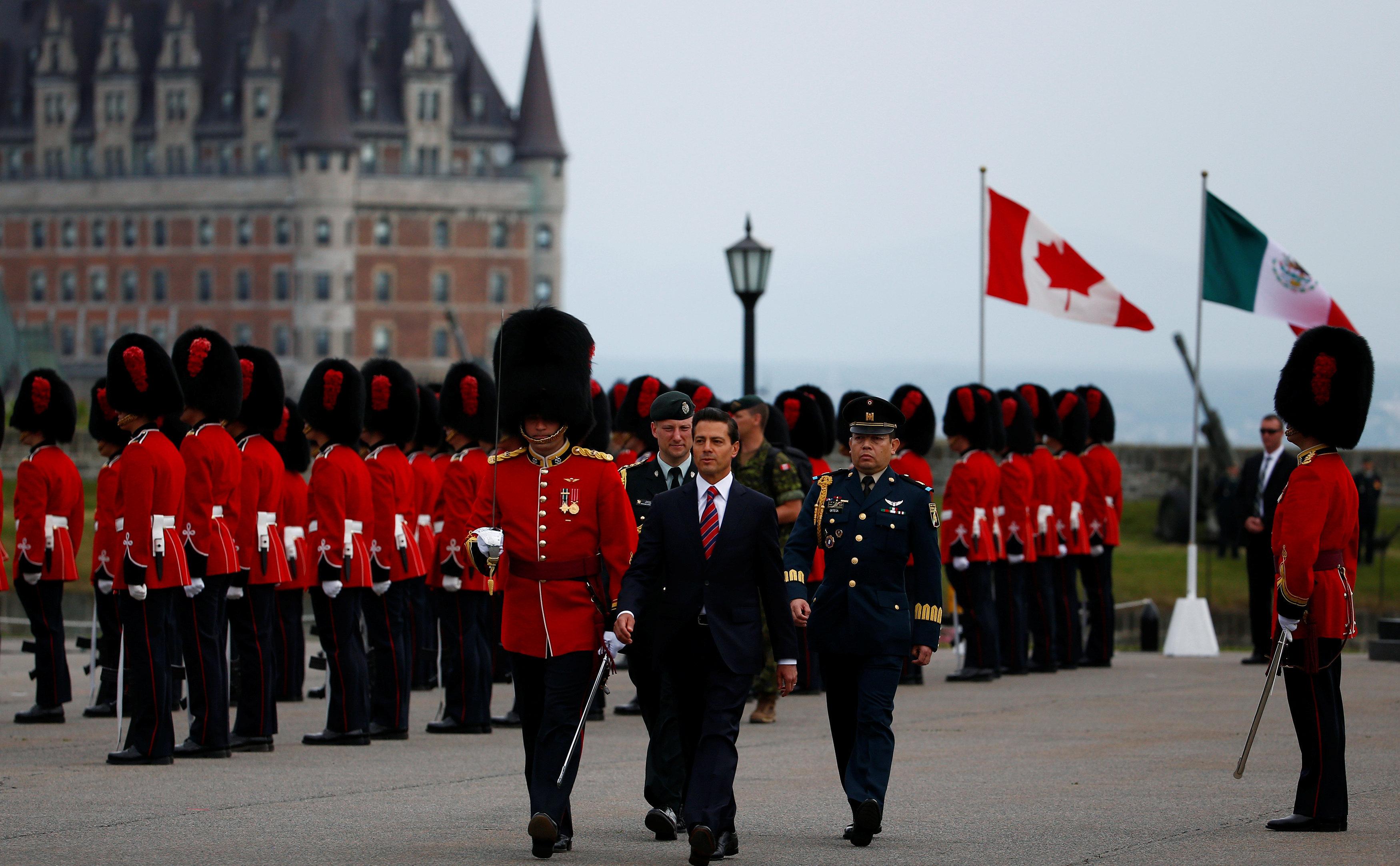 Enrique Peña Nieto, presidente de México en la Citadelle de Quebec