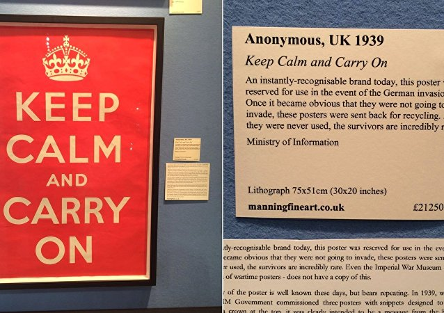 El póster original de 'Keep Calm and Carry On' a la venta por un valor de casi 30.000 dólares.