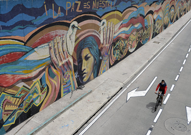 Grafiti en Bogotá: La paz es nuestra