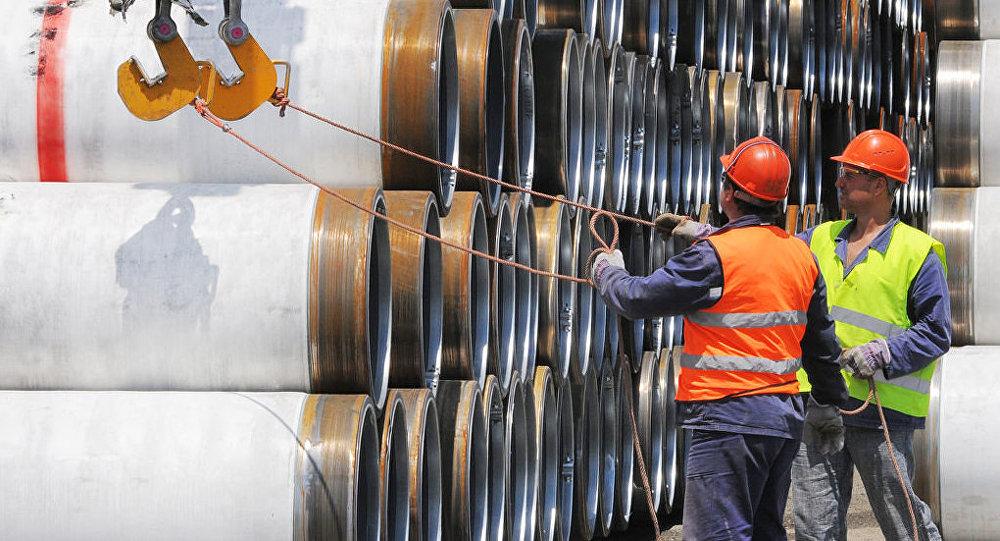 Construcción del gasoducto Turk Stream (archivo)
