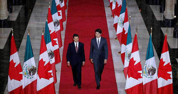 Presidente de México, Enrique Peña Nieto, y primer ministro de Canadá, Justin Trudeau (archivo)