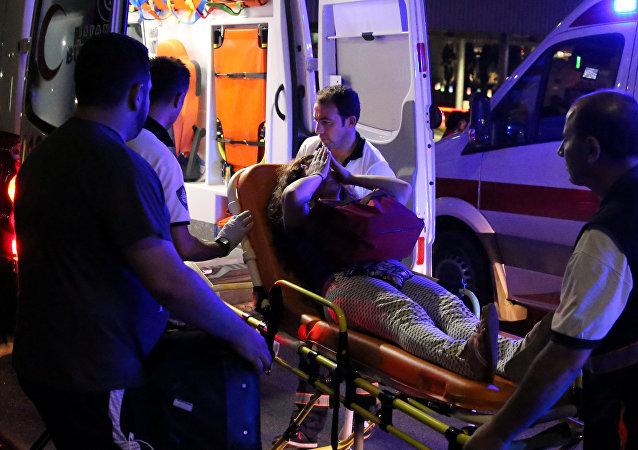 Una ambulancia turca