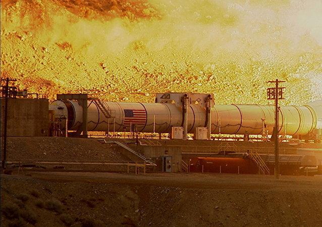 La prueba de una lanzadera de un cohete superpesado SLS