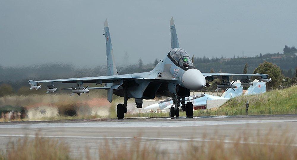 Un Su-30 ruso en Siria (archivo)