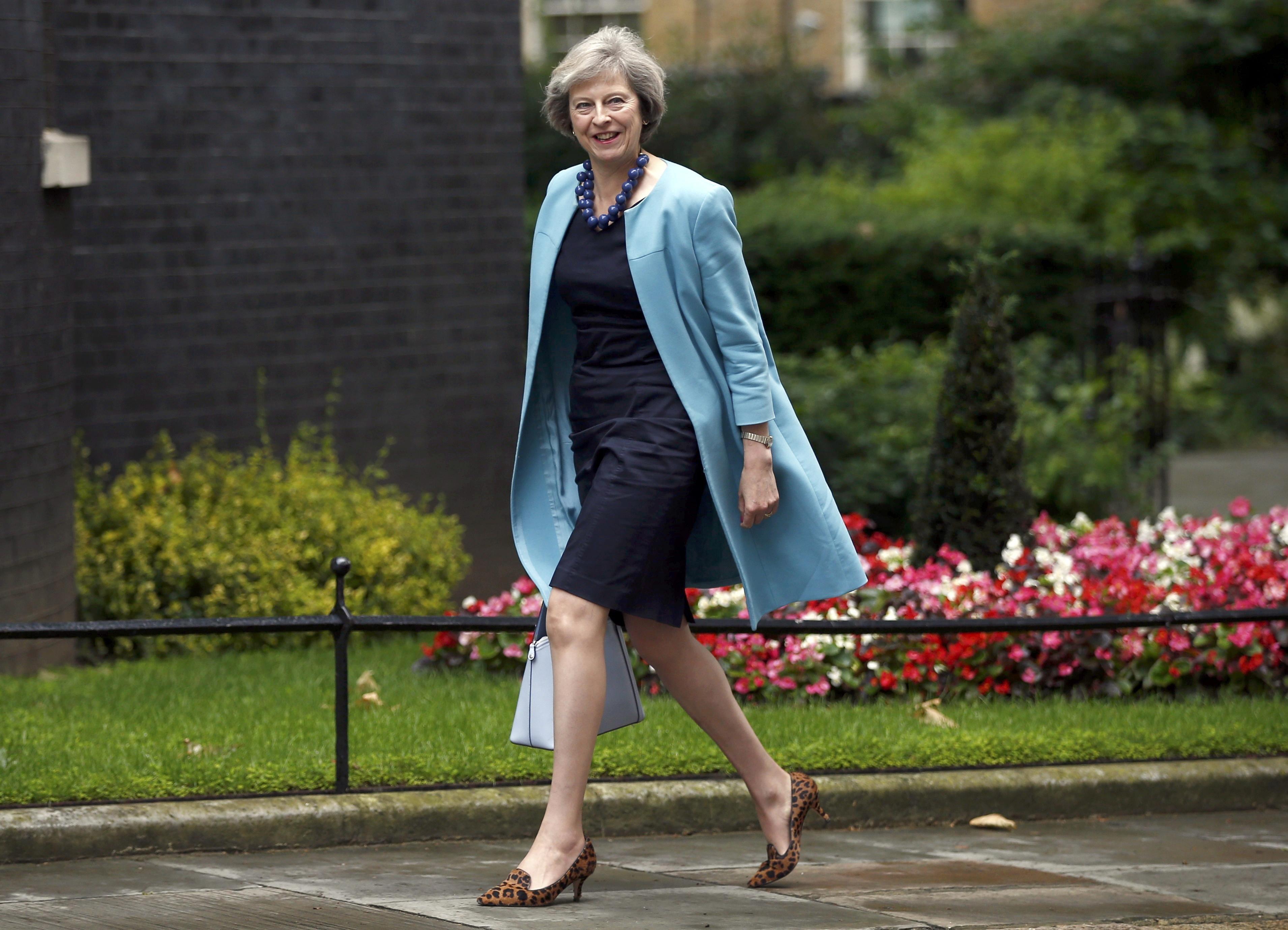 Theresa May, ministra británica del Interior