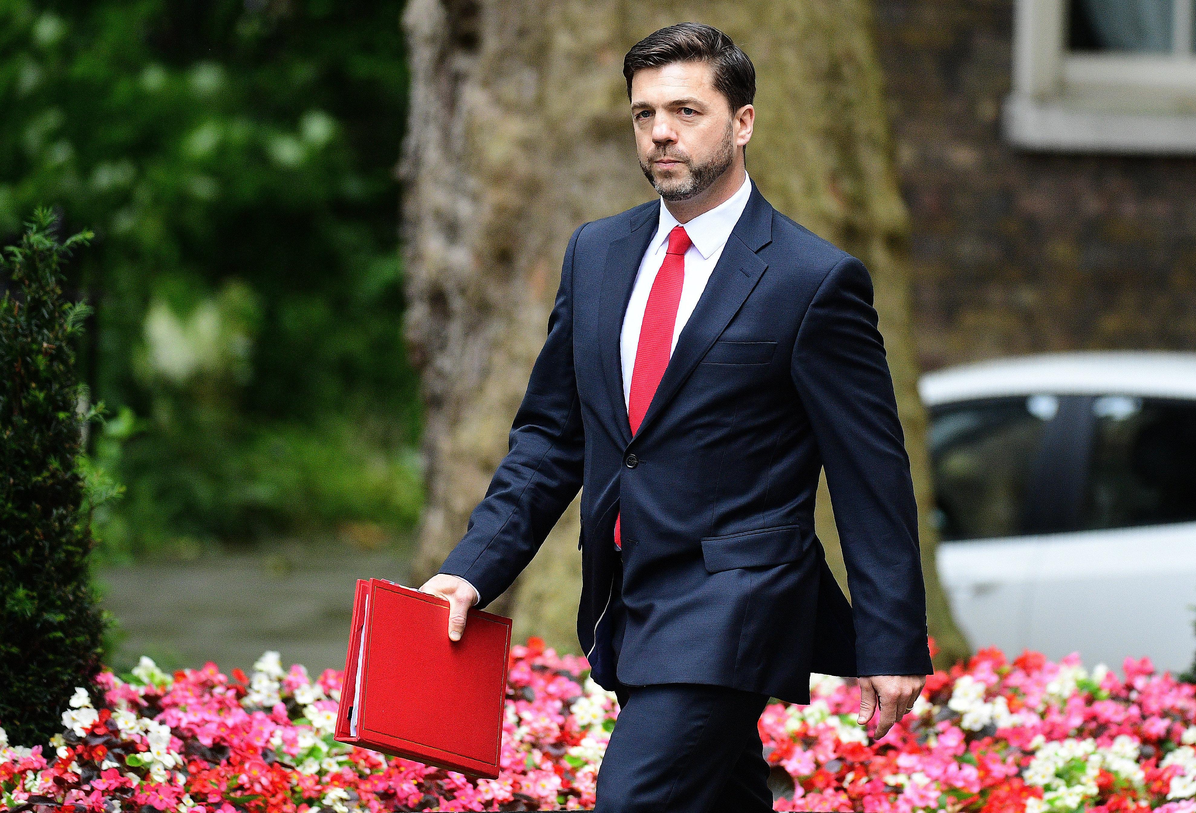 Stephen Crabb,  ministro de Trabajo y Pensiones y antes de Gales