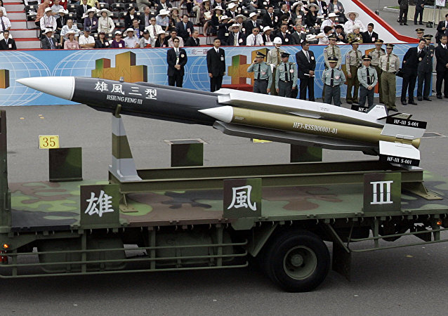 El misil antibuque Hsiung Feng III