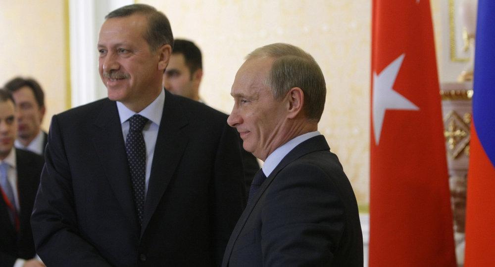 Presidente de Rusia, Vladímir Putin y presidente de Turquía, Recep Tayyip  (archivo)