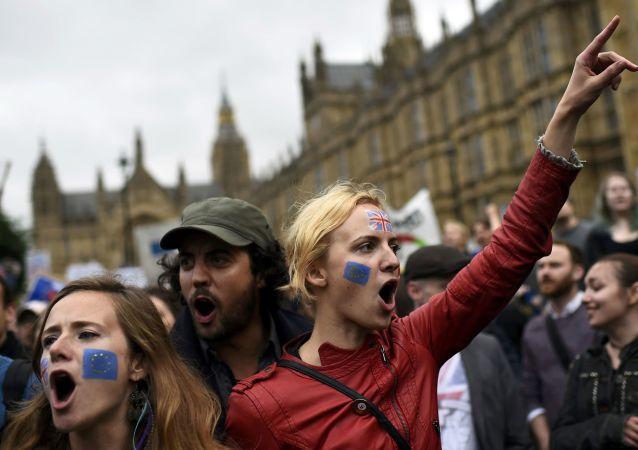 Manifestaciones tras el referéndum Brexit