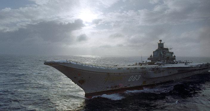Portaviones de la Armada de Rusia Almirante Kuznetsov (archivo)