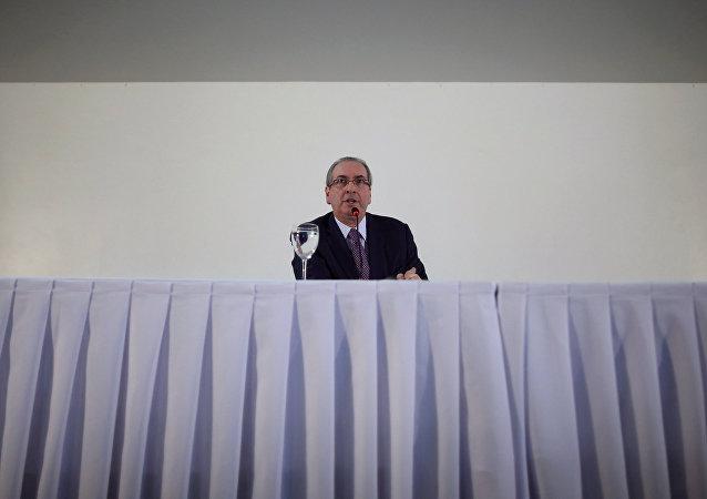 Eduardo Cunha, expresidente de la Cámara de Diputados de Brasil