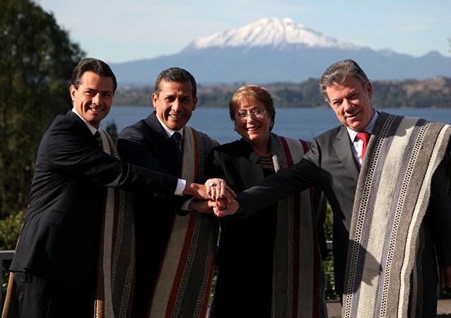 Líderes de la Alianza del Pacífico (archivo)